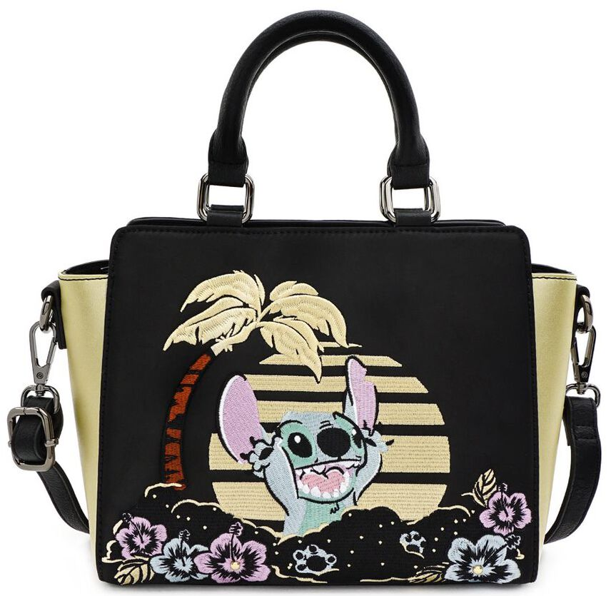Handtaschen - Lilo and Stitch Loungefly Stitch Handtasche schwarz gold  - Onlineshop EMP