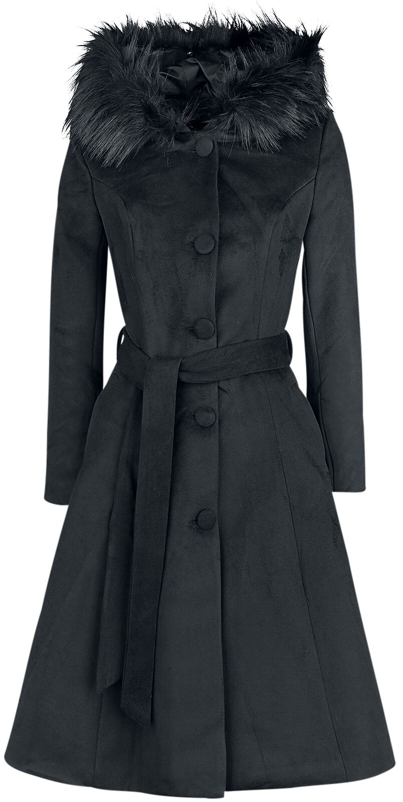 Jacken - H R London Ella Swing Coat Mantel schwarz  - Onlineshop EMP