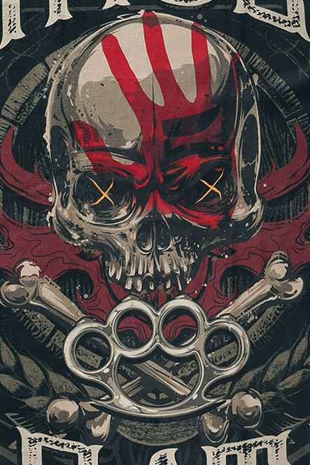 Image of Five Finger Death Punch Since 2005 Badetuch Standard