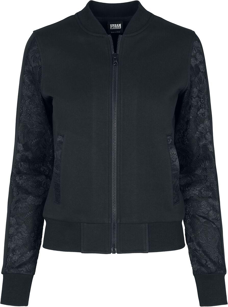 Jacken - Urban Classics Ladies Lace Bomber Jacket Bomberjacke schwarz  - Onlineshop EMP