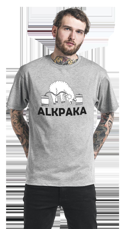 Image of Alkpaka T-Shirt grau meliert