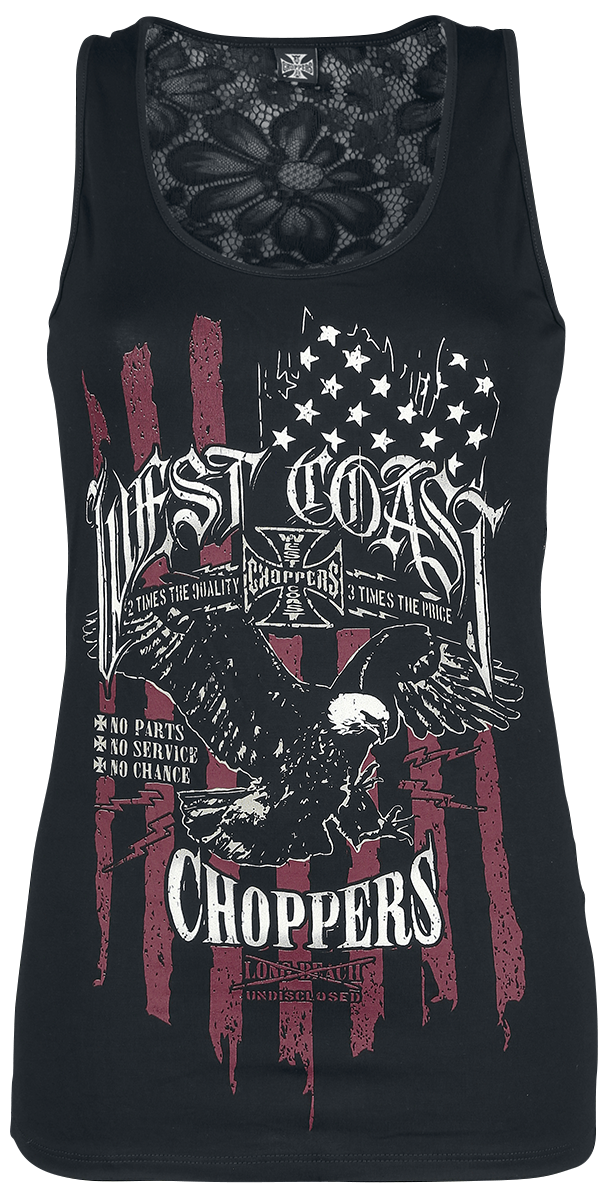 West Coast Choppers - Eagle Lace Tee - Girls Top - black image