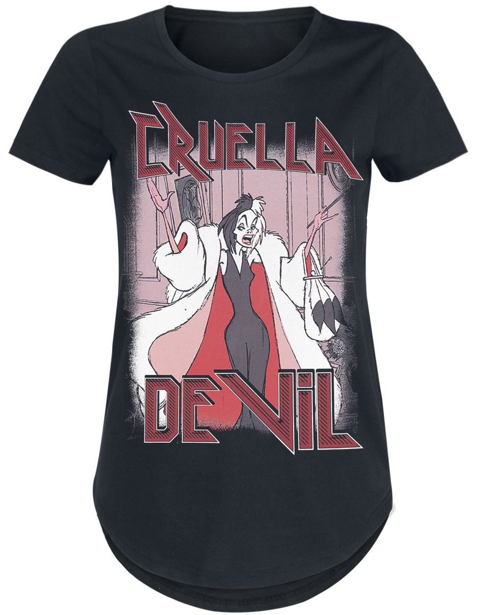 One Hundred And One Dalmatians - Cruella De Vil - Girls shirt - black image