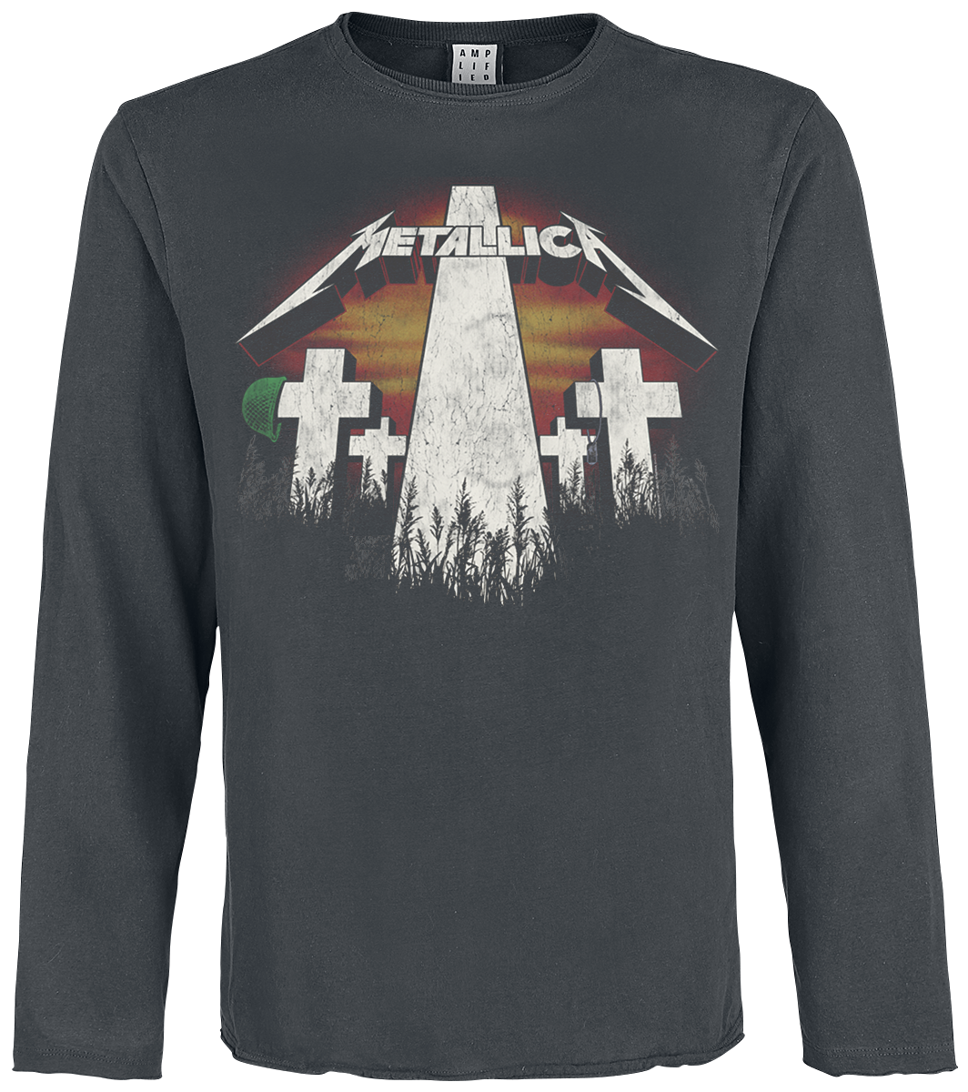 Metallica - Amplified Collection - Master Of Puppets - Longsleeve - charcoal image