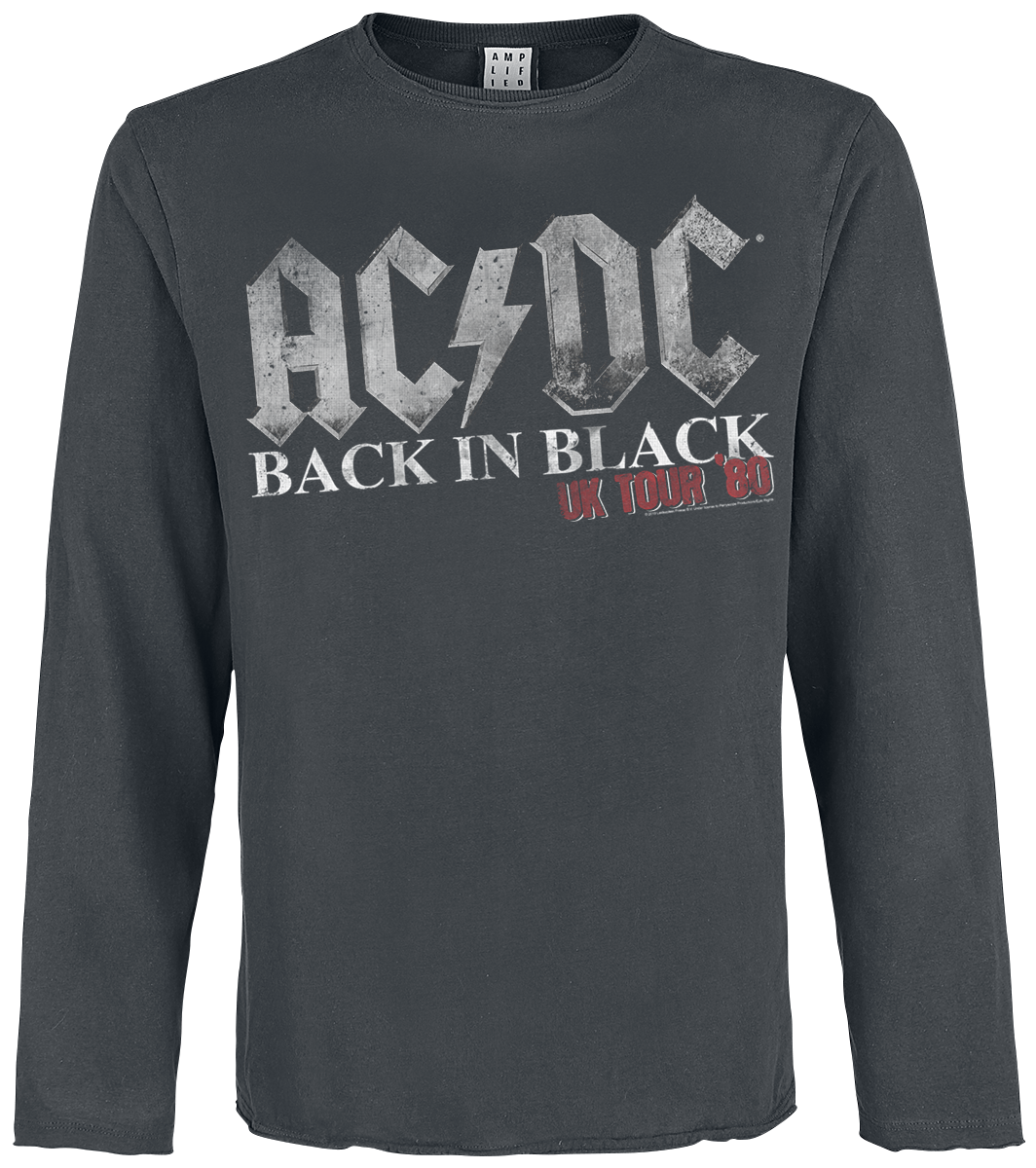 AC/DC - Amplified Collection - Back In Black World Tour - Longsleeve - charcoal image