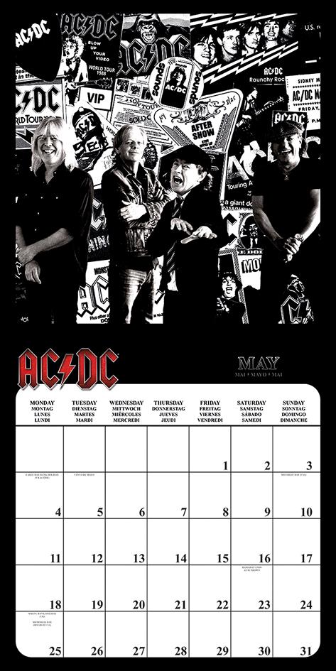 Image of AC/DC 2020 Wandkalender Mehrfarbig