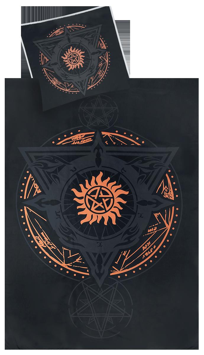 Supernatural - Anti Possession - Bettwäsche - schwarz  orange - EMP Exklusiv!