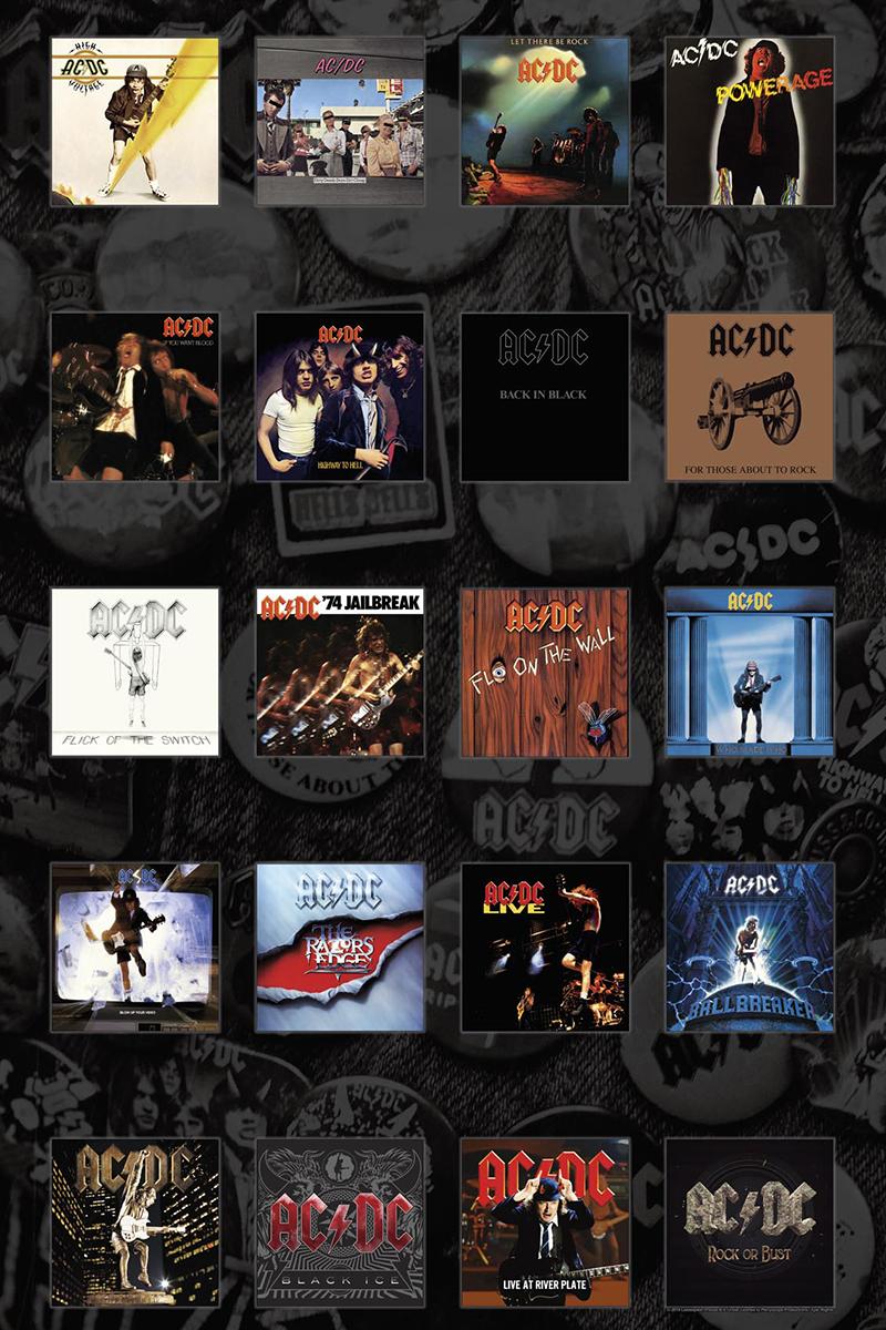 Image of AC/DC Albums Textilposter Mehrfarbig