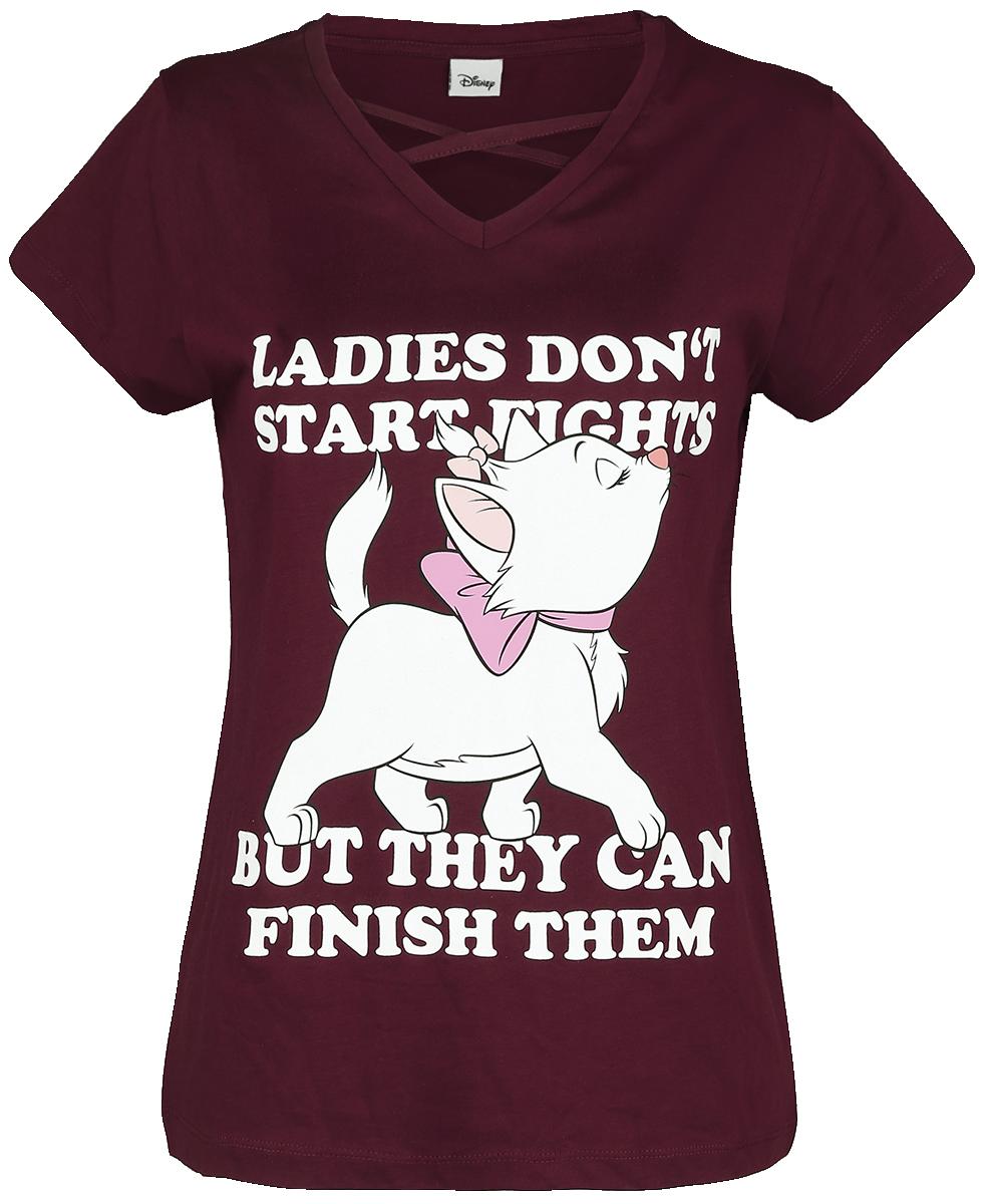 Aristocats - Marie - Ladies Don't Start Fights - Girls shirt - berry image