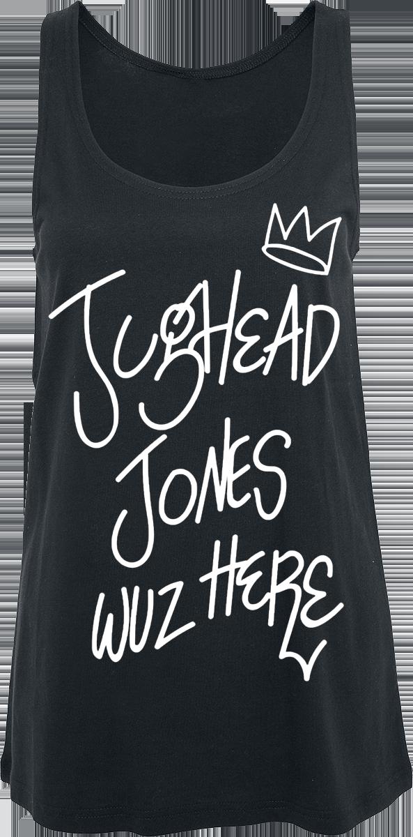 Riverdale - Jughead Jones - Wuz Here - Girls Top - black image
