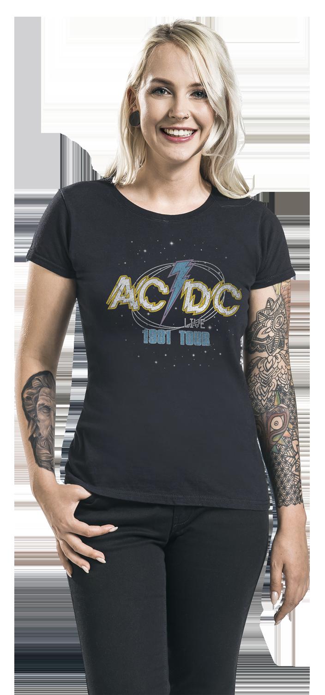 Image of AC/DC 1981 Tour Girl-Shirt schwarz
