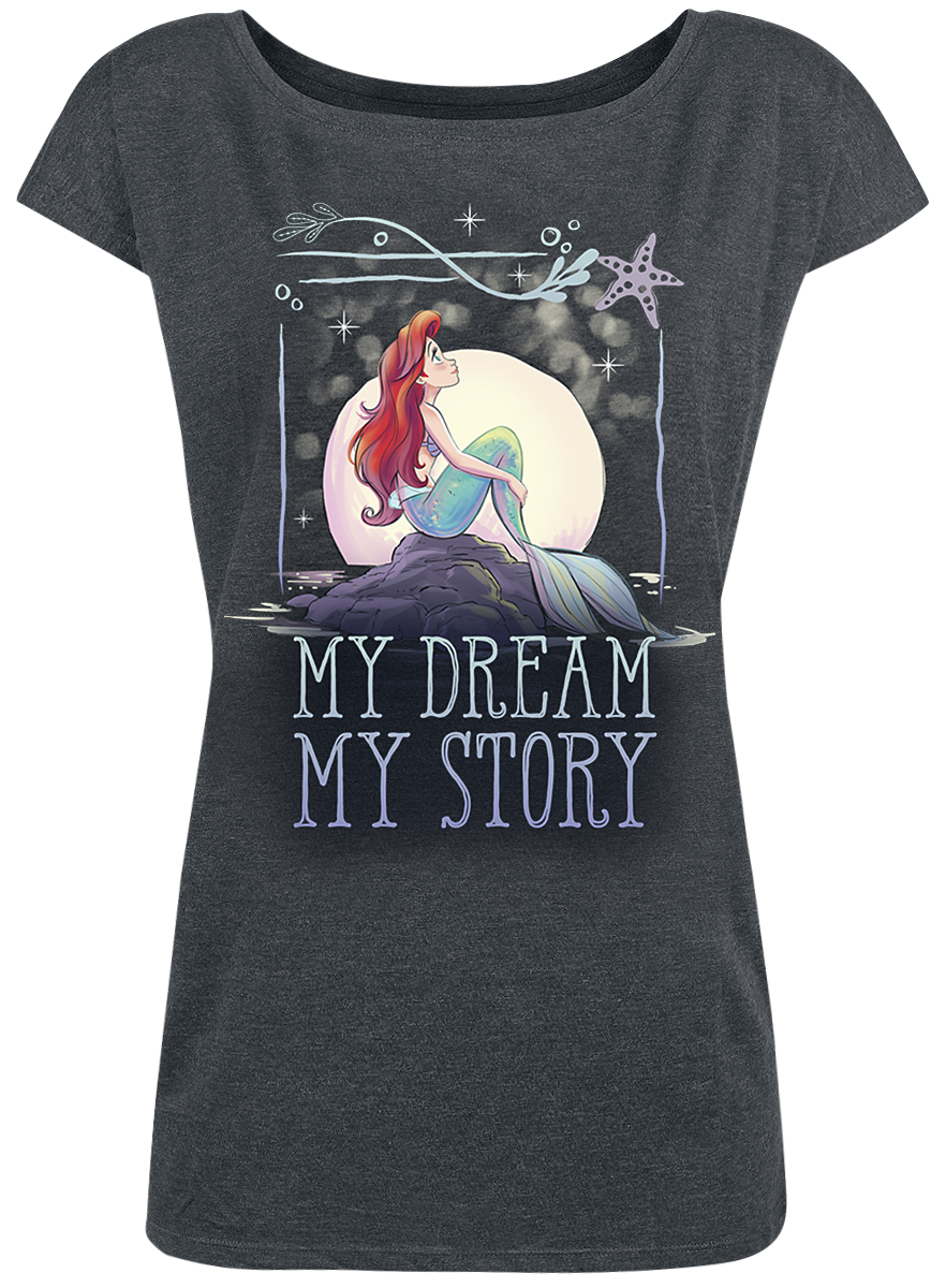 The Little Mermaid - My Dream - Girls shirt - mottled grey image