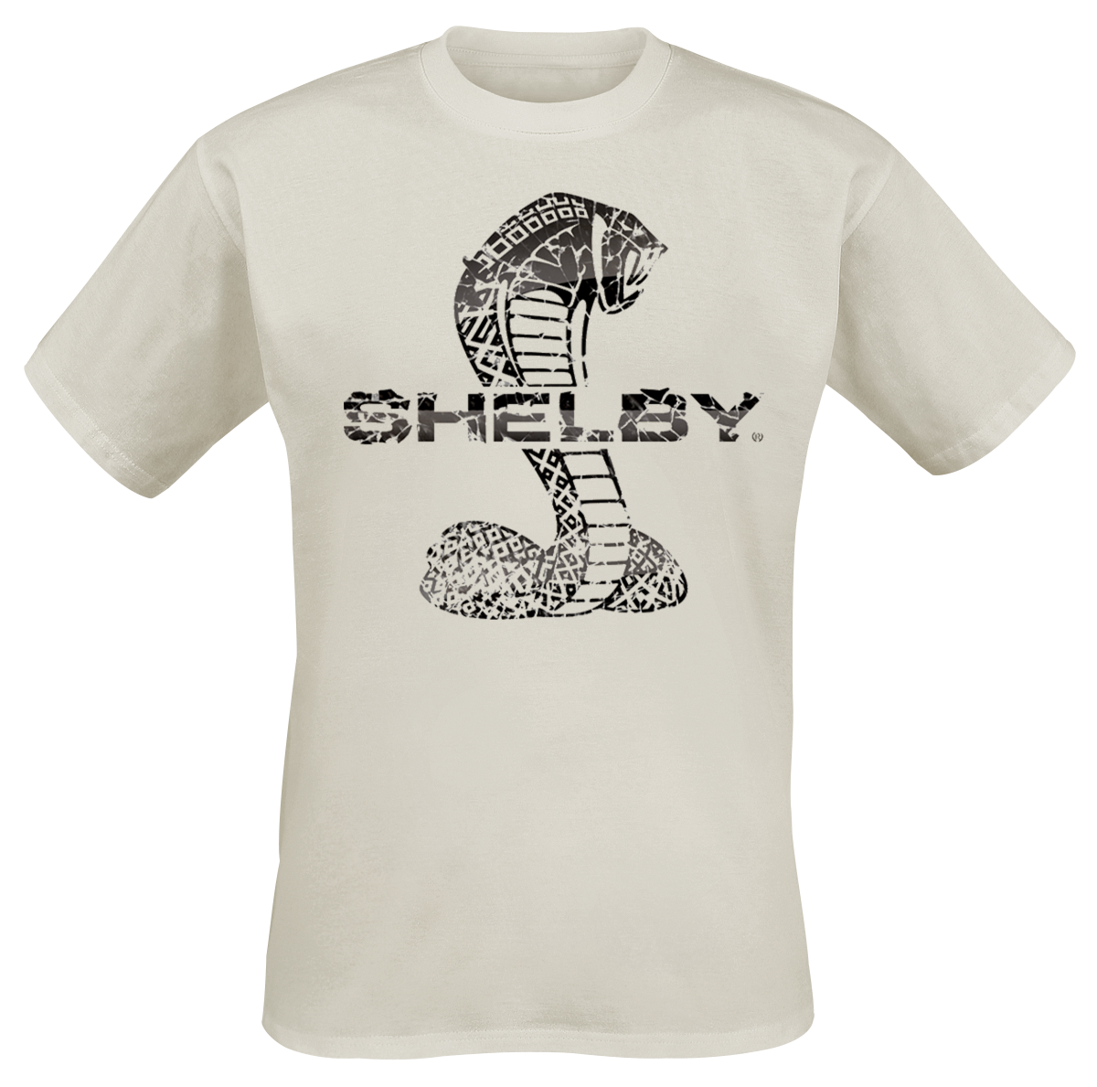 Shelby - Cracked Snake - T-Shirt - beige image