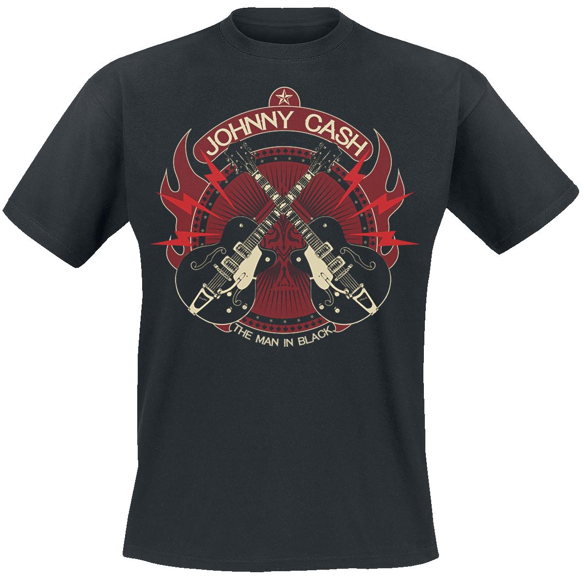 Johnny Cash - Crossed Guitars - T-Shirt - black image