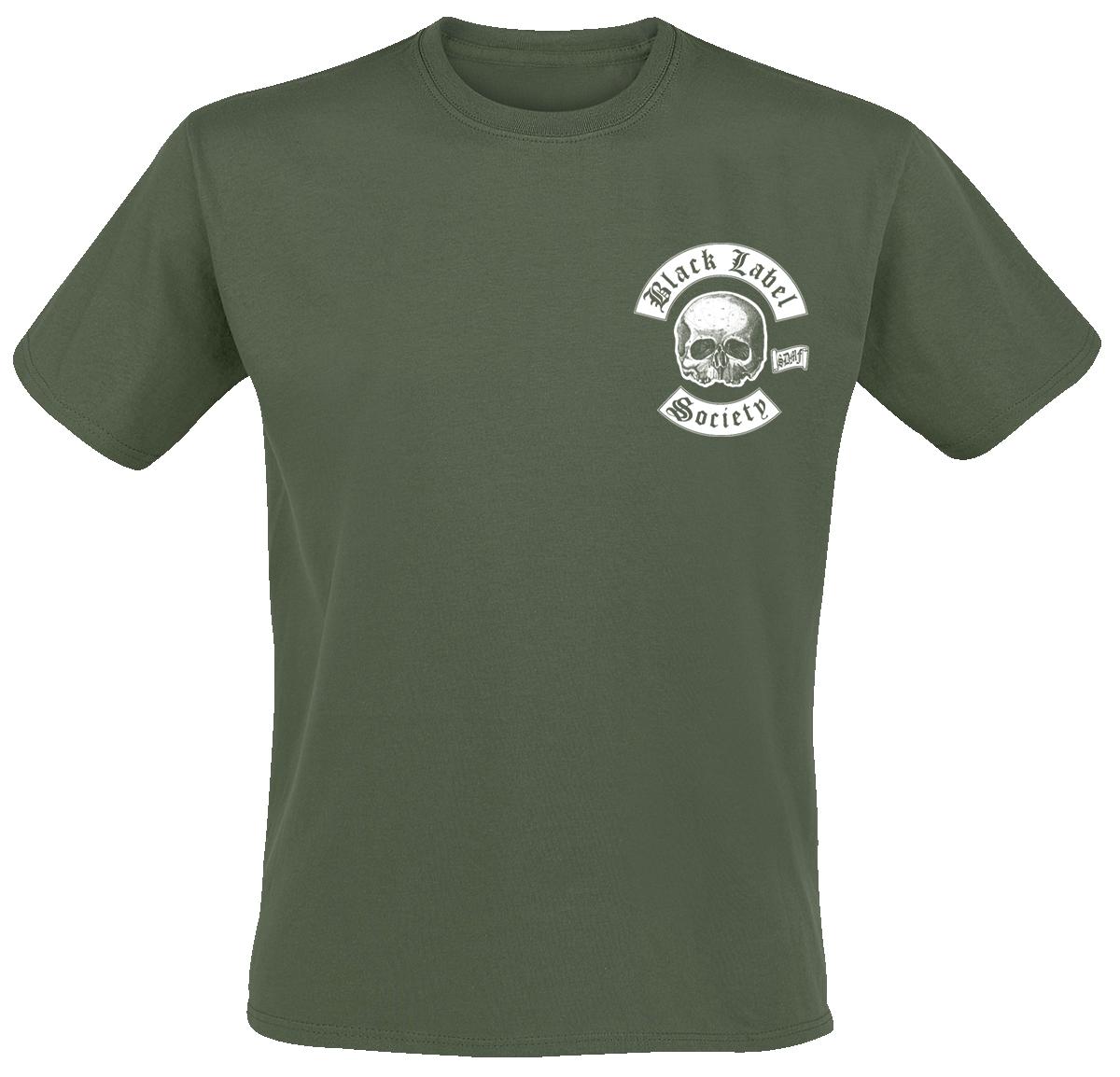 Black Label Society - Skull LogoPocket - T-Shirt - olive image
