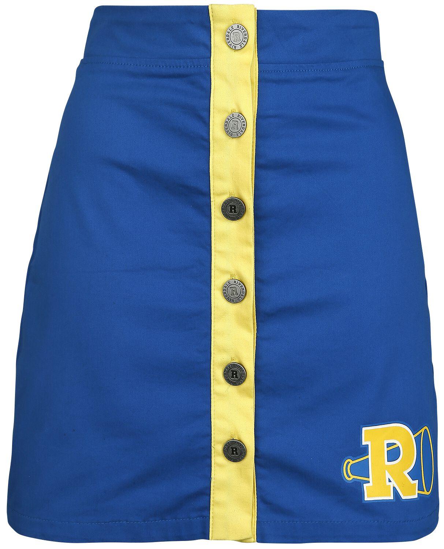 Roecke - Riverdale Riverdale High Mittellanger Rock blau gelb  - Onlineshop EMP