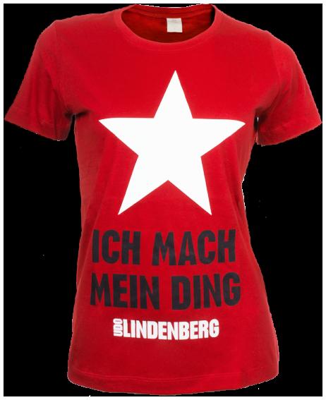 Udo Lindenberg - Ich mach mein Ding - Girl Shirt - Girls shirt - red image