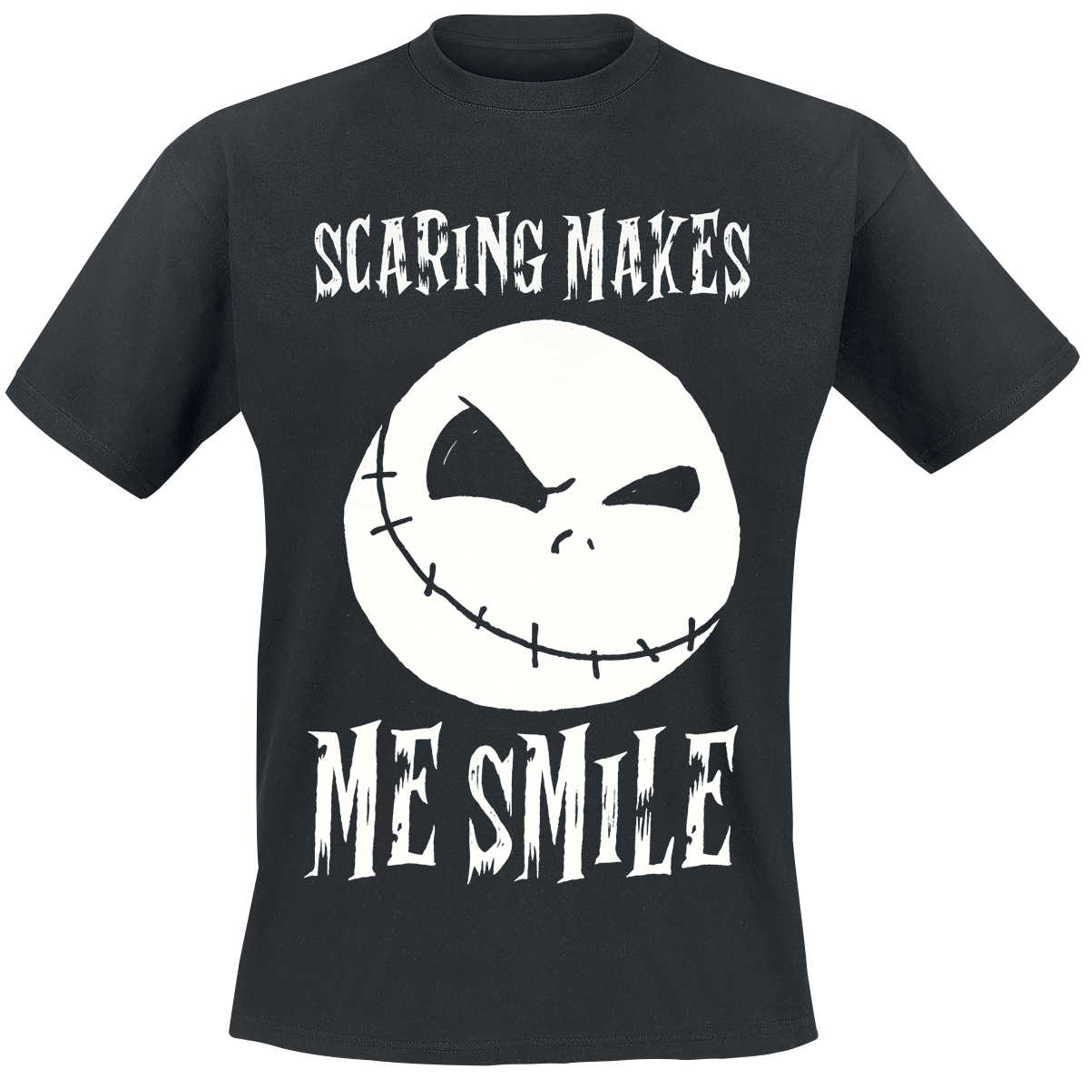 The Nightmare Before Christmas - Scaring Makes Me Smile - T-Shirt - black image