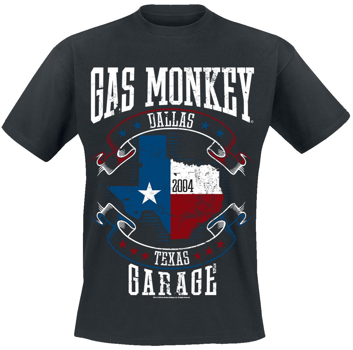 Gas Monkey Garage - Texas Flag - T-Shirt - black image