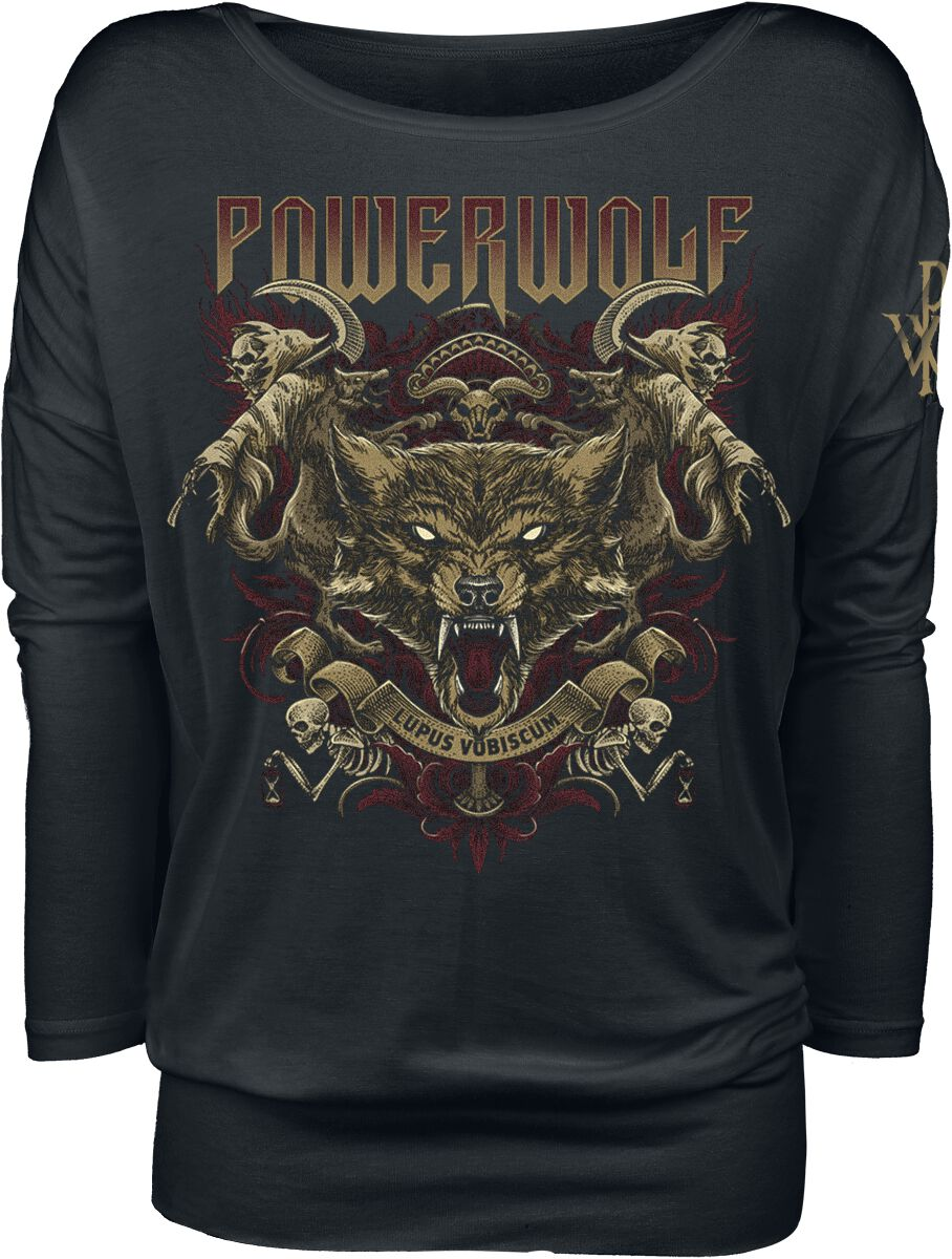 Oberteile - Powerwolf Lupus Vobiscum Langarmshirt schwarz  - Onlineshop EMP