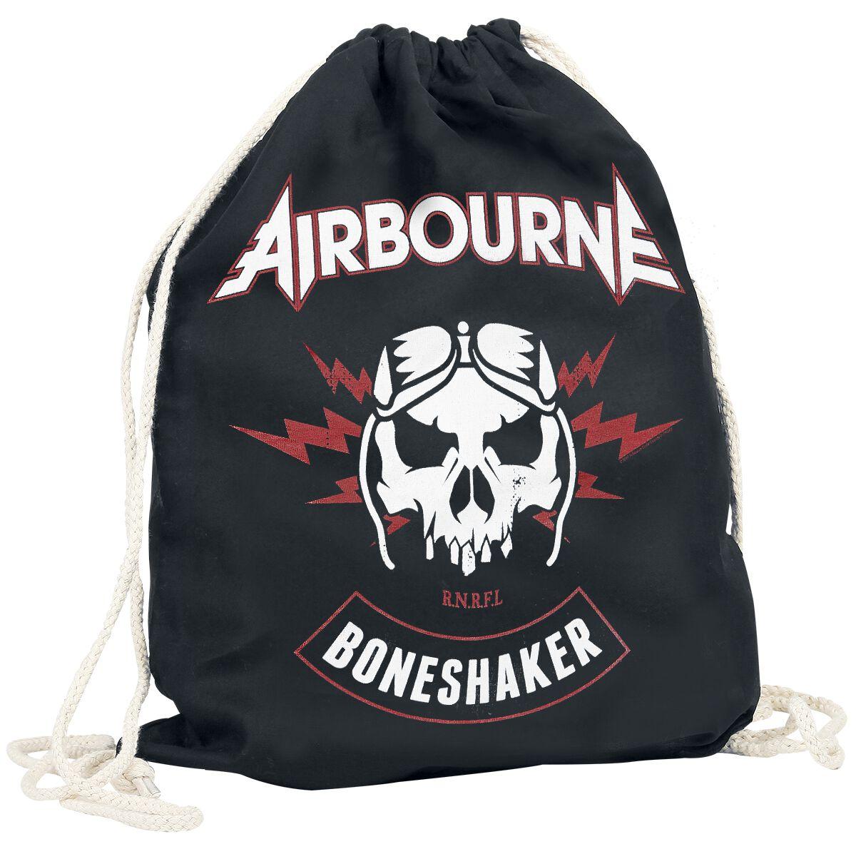 Sporttaschen - Airbourne Boneshaker Turnbeutel Turnbeutel schwarz  - Onlineshop EMP