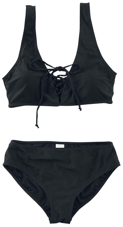 Forplay Front Laced Bikini Badeanzug schwarz 3-19-2938