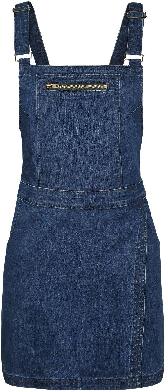 Kleider - Forplay Latzwickelkleid Kurzes Kleid blau  - Onlineshop EMP