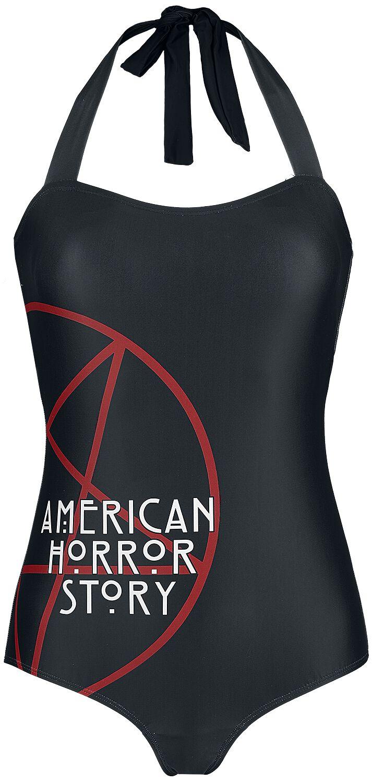 Bademode - American Horror Story Pentagram Badeanzug schwarz  - Onlineshop EMP