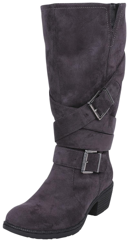 Black Premium by EMP Dunkelgraue Stiefel mit Riemen Boot dunkelgrau M396135