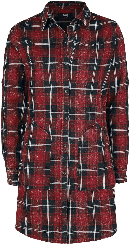 RED by EMP Langes Karohemd Langarmhemd schwarz rot M401642