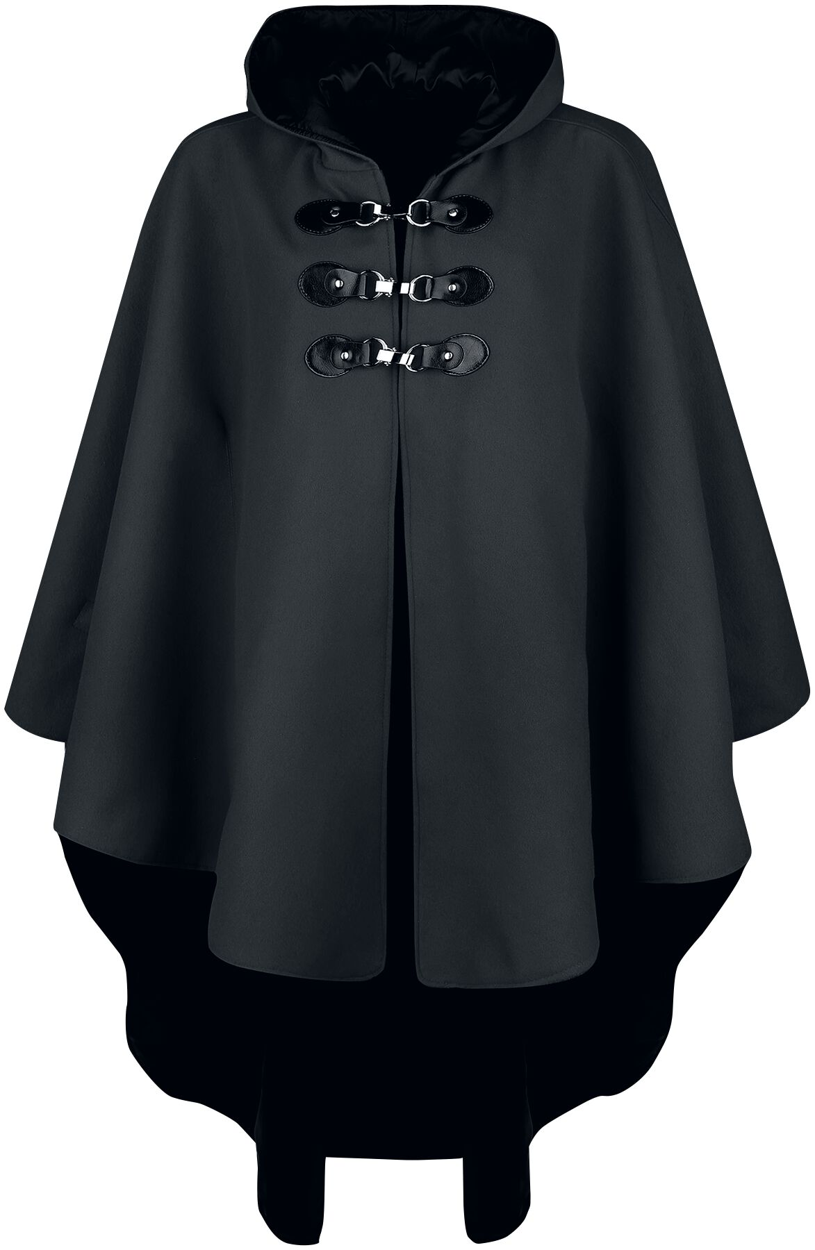 Image of Gothicana by EMP schwarzes Cape mit Kapuze Cape schwarz