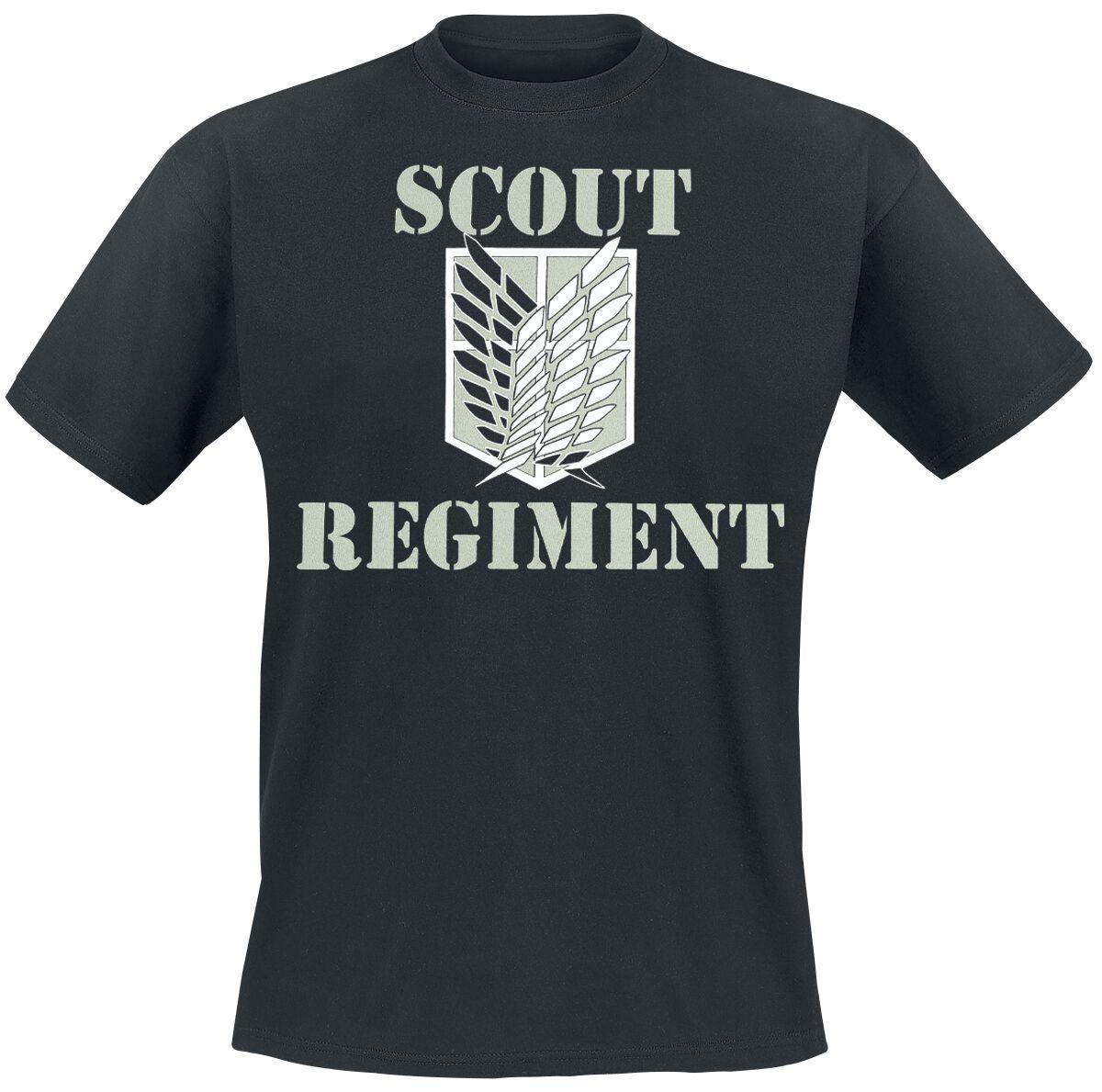 Image of Attack On Titan Scout Regiment T-Shirt schwarz