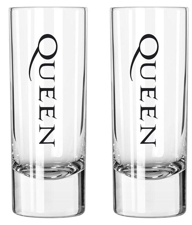 Queen Crest Schnapsglas-Set klar SG004
