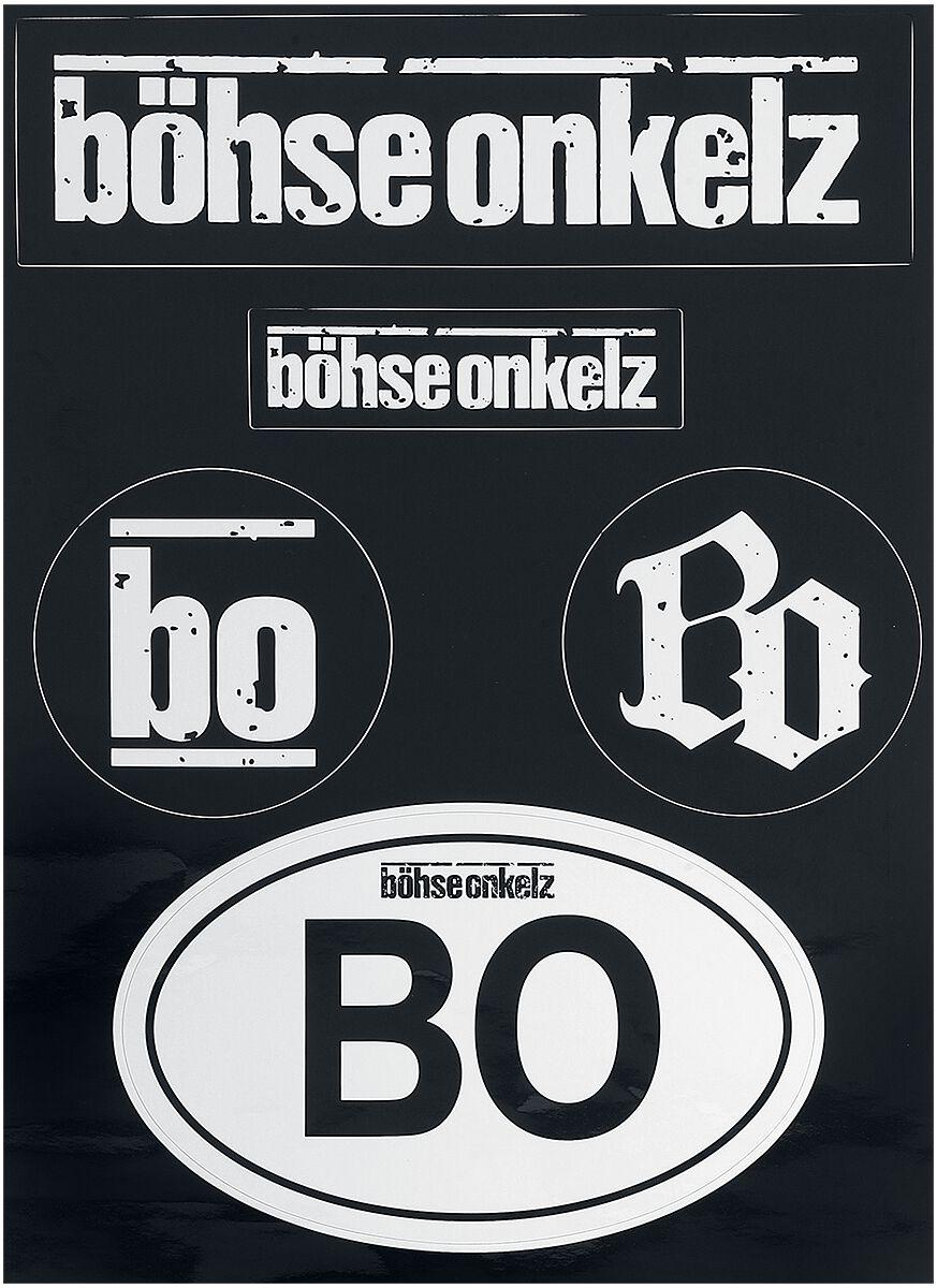 Image of Böhse Onkelz Aufkleber-Set Aufkleber-Set schwarz/weiß