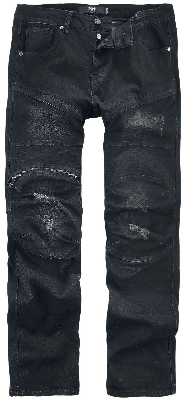 Black Premium by EMP Pete - Schwarze Jeans im Biker-Look Jeans schwarz M403753
