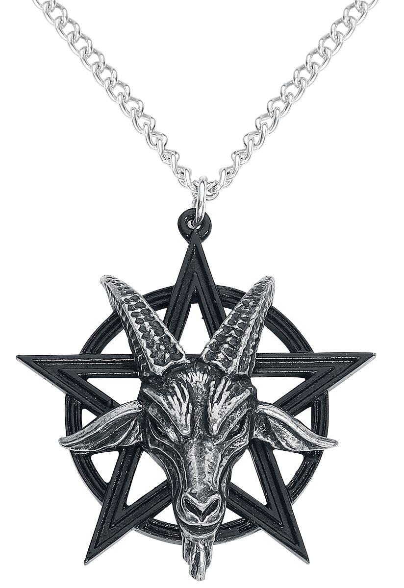 Image of Alchemy Gothic Baphomet Pendant Halskette schwarz/silberfarben