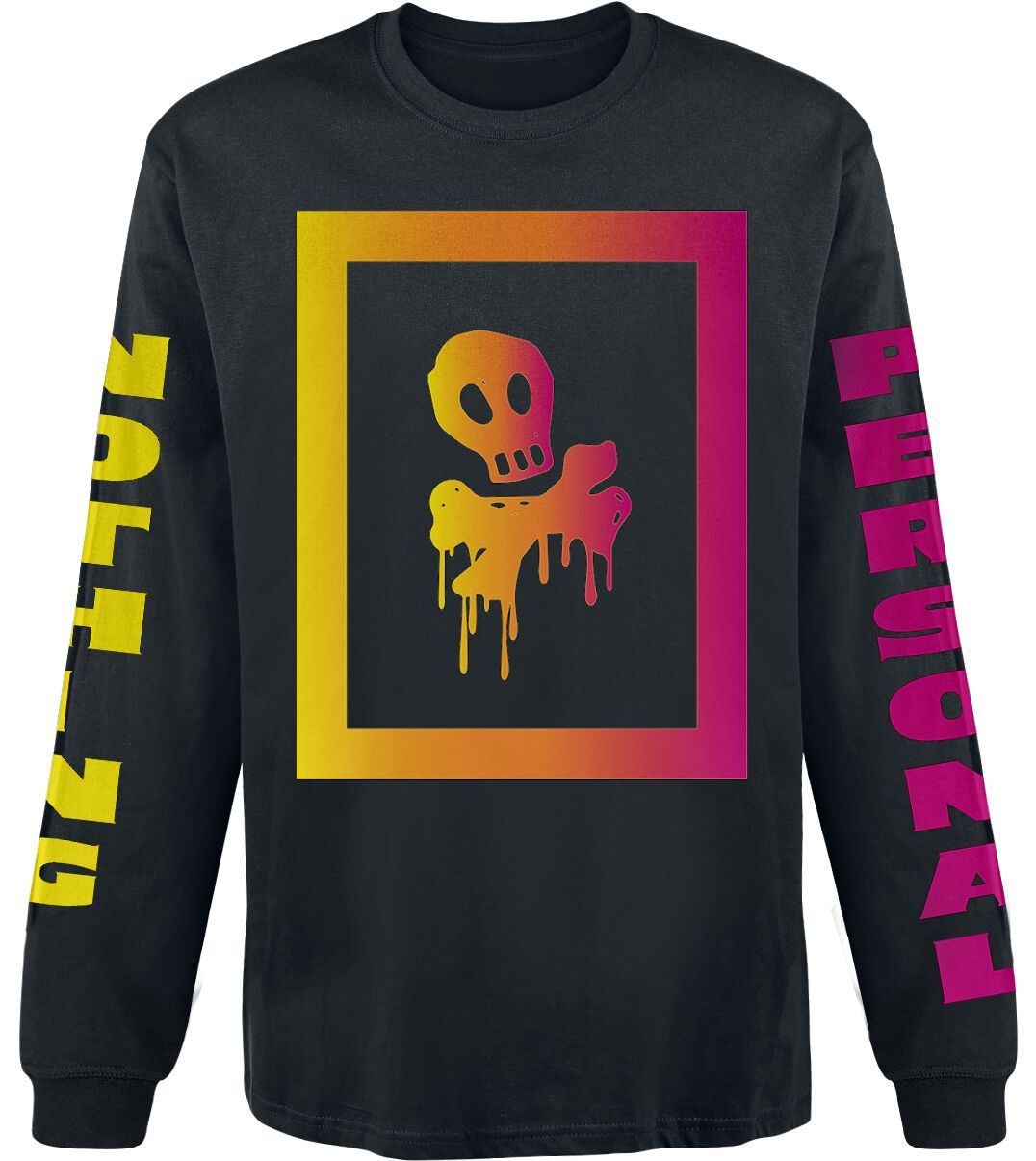Image of All Time Low Nothing Personal Box Skull Longsleeve schwarz