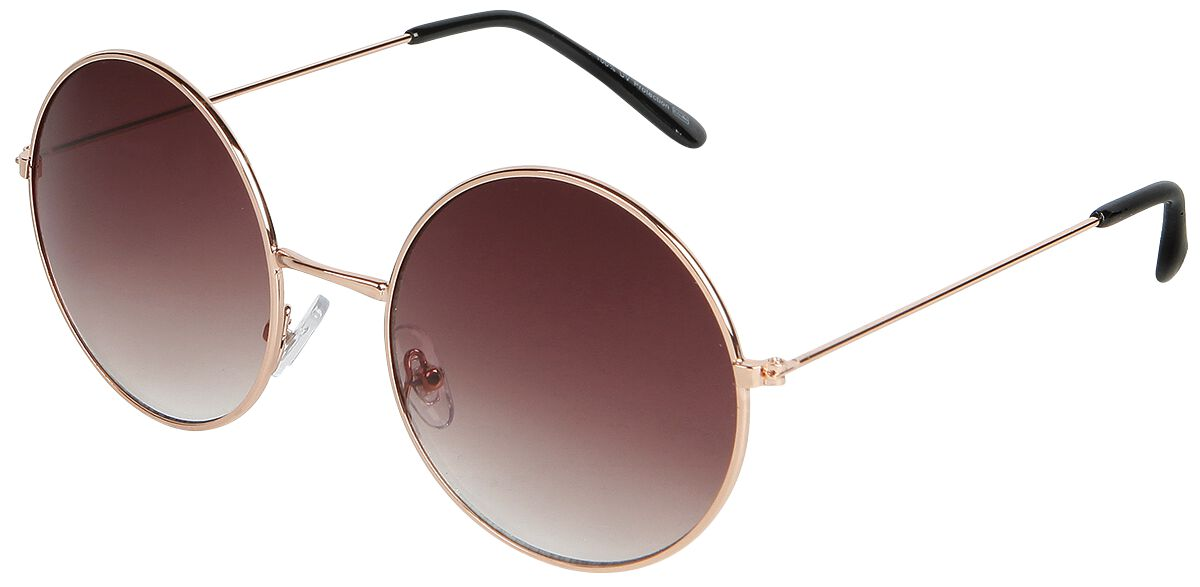 Sonnenbrillen - Circular Brown Sonnenbrille goldfarben  - Onlineshop EMP