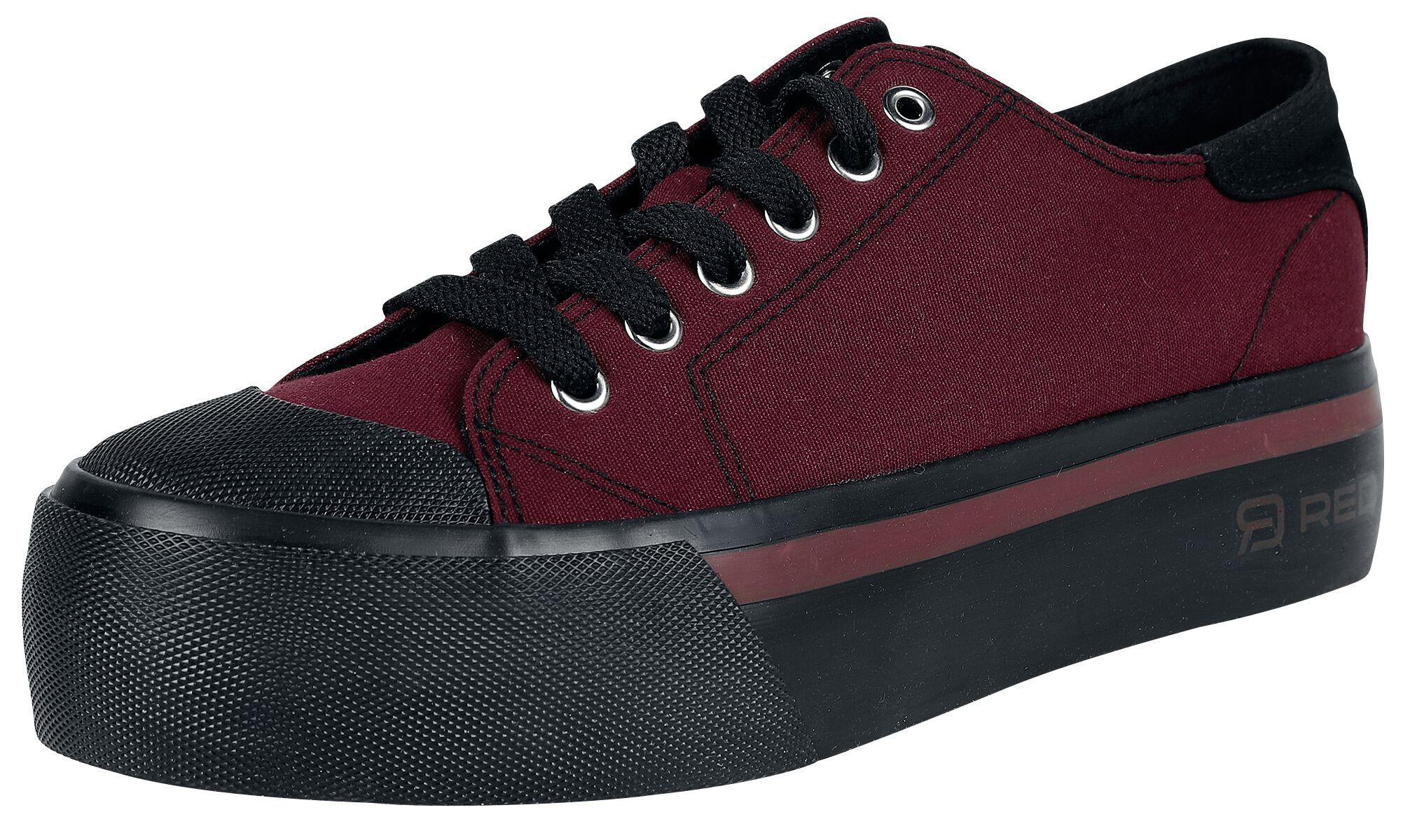 RED by EMP Dunkelrote Sneaker mit Plateau-Sohle Sneaker dunkelrot M408415