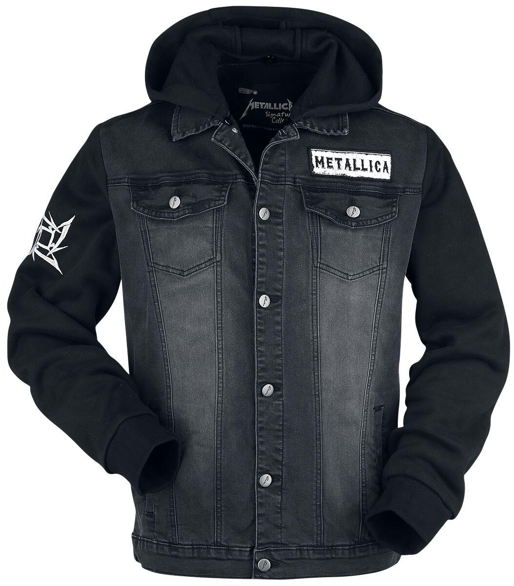 Metallica EMP Signature Collection Jeans Jacket dark grey black