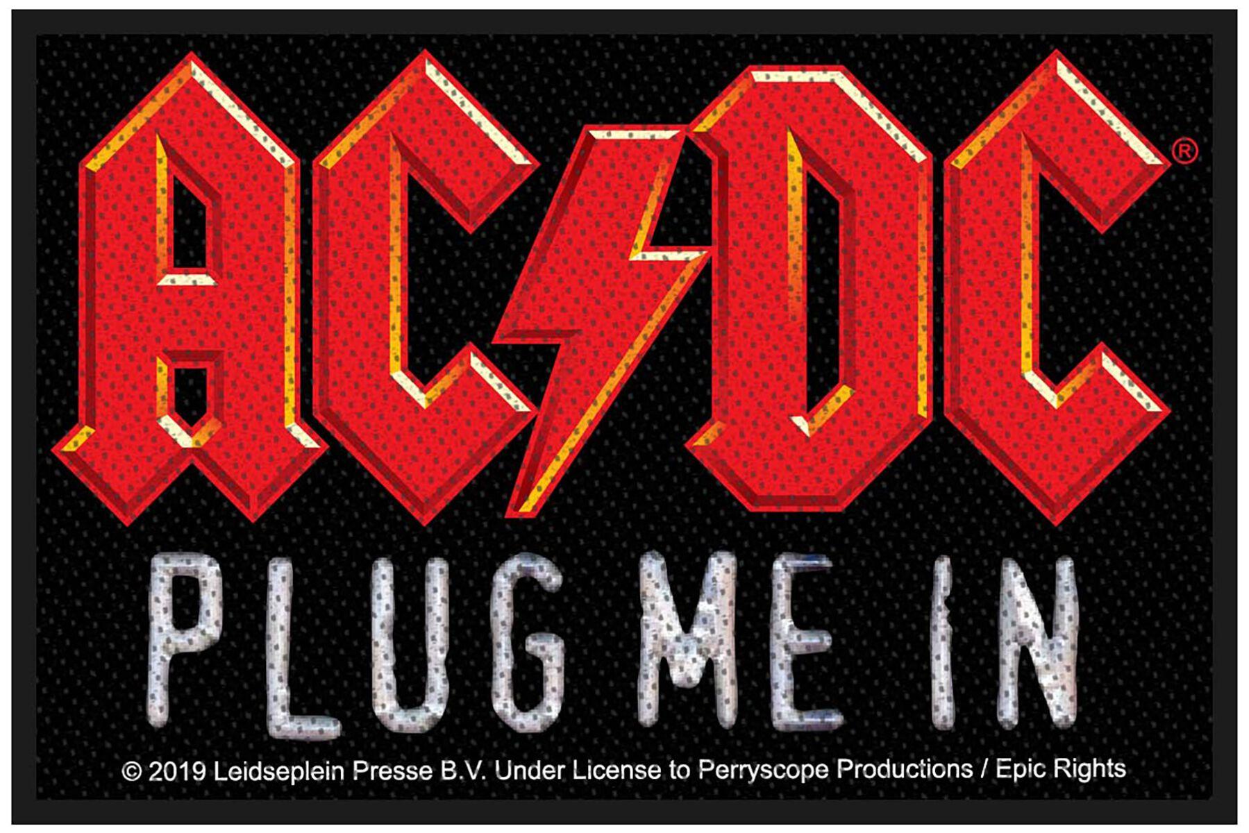 AC/DC  Plug me in  Patch  multicolor