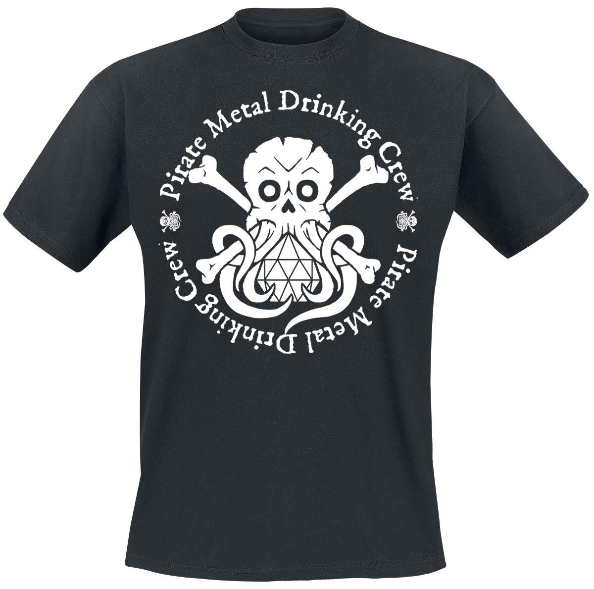 Image of Alestorm Pirate Metal Drinking Crew T-Shirt schwarz
