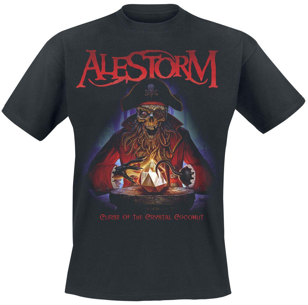 Image of Alestorm Curse Of The Crystal Coconut T-Shirt schwarz