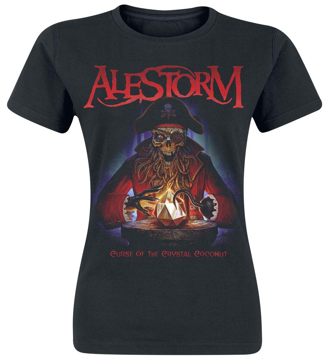 Image of Alestorm Curse Of The Crystal Coconut Girl-Shirt schwarz