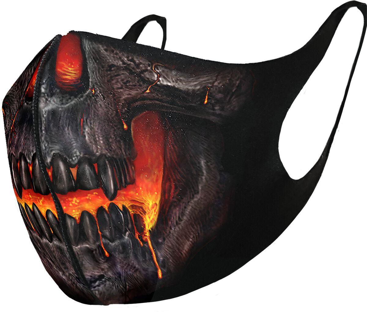 Spiral Skull Lava  Maske  schwarz