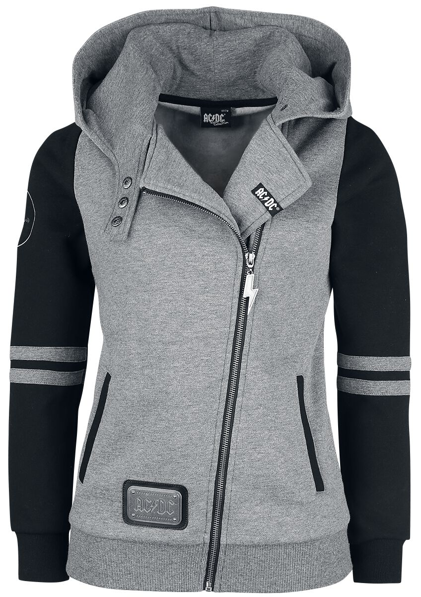 AC/DC EMP Signature Collection Hooded zip mottled light grey black