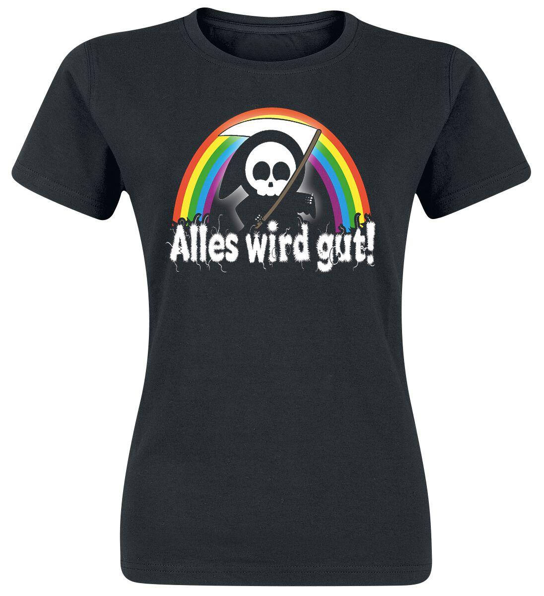 Image of Alles wird gut! Girl-Shirt schwarz