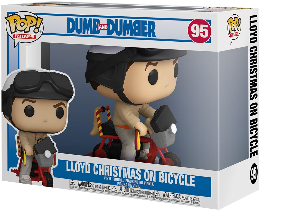 Dumm und Dümmer  Lloyd Christmas On Bycicle (Pop! Rides) Vinyl Figur 95  Sammelfigur  Standard