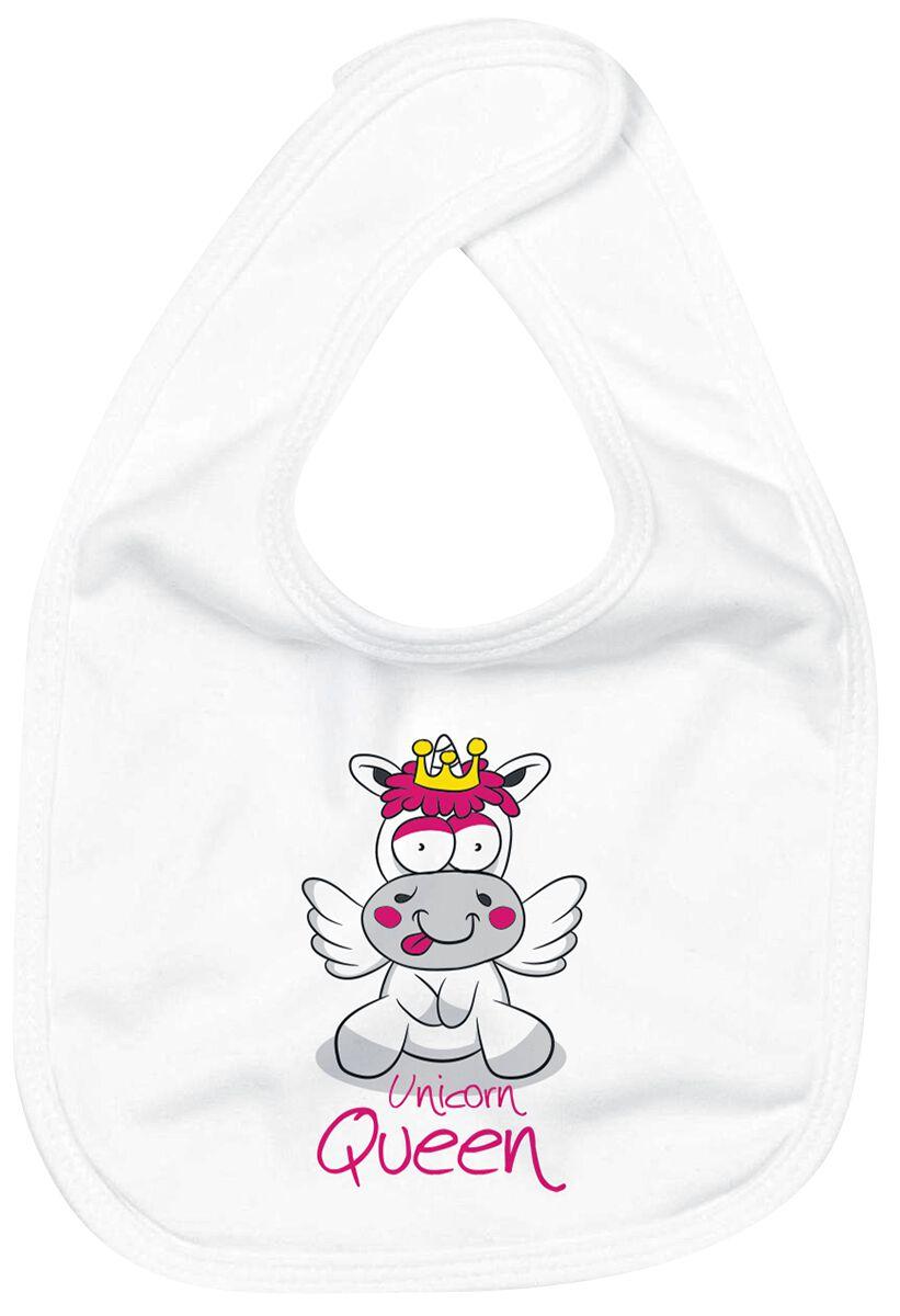 Image of Einhorn Unicorn Queen Baby Lätzchen weiß