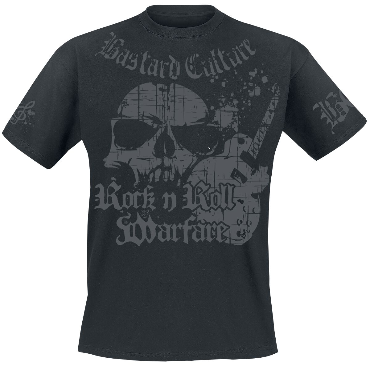 Image of Bastard Culture Rock 'n' Roll Warfare T-Shirt schwarz